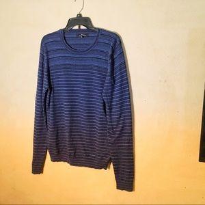 Marc Anthony Blue Striped Knit Top, Sz L